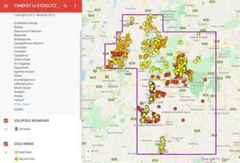 Yandoit to Steiglitz Goldfield District